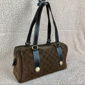 Rare Gucci Suede Boston Bag